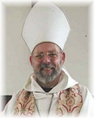Bishop Carl in miter and vestments